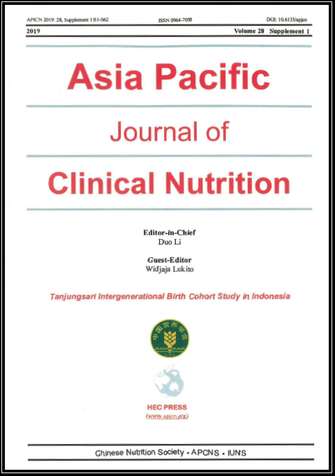 Book Cover of Asia Pacific Journal of Clinical Nutrition Volume 28 Supplement 1 2019
